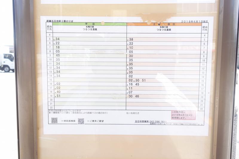 武蔵五日市駅バス時刻表